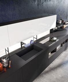 120 fantastiche immagini su cucina nera | Home kitchens, Decorating ...