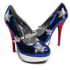 Rupaul's Drag Race X Iron Fist Miss Amerikah Platforms Blue