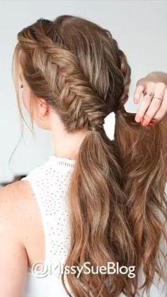 Cute Hairstyles For Medium Hair, Summer Hairstyles, Medium Hair Styles, Girl Hairstyles, Wedding Hairstyles, Short Hair Styles, Girls Long Hair Styles, Dutch Braided Hairstyles, Hairstyles For A Party