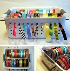 Simple craft supplies storage ideas!