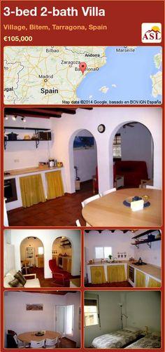 3-bed 2-bath Villa in Village, Bitem, Tarragona, Spain ►€105,000 #PropertyForSaleInSpain