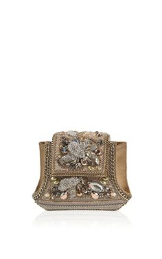 Bumbus Pale Gold Clutch by Bea Valdes for Preorder on Moda Operandi