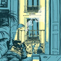 "Single cover design for ""Noviembre"" Rebeca Losada, 2016 INSTAGRAM FACEBOOK"