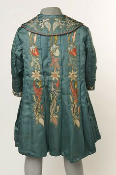 1890 Embroidered coat back view