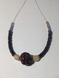 Gift to the eldest son. Labradorite, diamond, Moldavite, spinel, garnet, Golden rutile crystal, grandmother of keepsake linden rosary. Third work