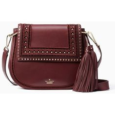Kate Spade Basset Lane Emaline ($528) ❤ liked on Polyvore featuring bags, handbags, shoulder bags, cross body, shoulder handbags, red handbags, handbag purse, red crossbody and crossbody handbags