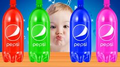 Learn Colors with Pepsi for Children, Toddlers, Babies! Finger Family Song, Learning Colors, Kids Songs, Pepsi, Nursery Rhymes, Water Bottle, Canning, Drinks, Children