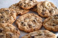 Chocolate Chip Oatmeal Cookies Recipe from KAF. Best ever- 1/4 cup scoops for just over 15 mins