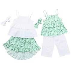 37ee1ecb626d Coordinating little sister big sister infant toddler girl summer ruffle  clothing set