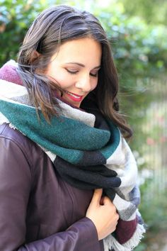 cupcakes and cashmere faux leather jacket, how to style a blanket scarf, fall outfits - My Style Vita Winter Style, Autumn Winter Fashion, Blanket Scarf, Autumn Inspiration, Plaid Flannel, Faux Leather Jackets, Jacket Style, Scarf Styles, Style Ideas