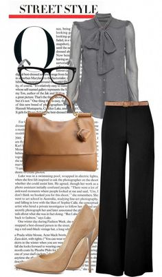 """""""The Perfect Interview Outfit"""" by roxcherie Style Casual, Casual Outfits, Cute Outfits, Fashion Outfits, My Style, Womens Fashion, Casual Attire, Work Outfits, Business Outfits"""