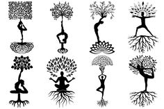Ad: Yoga Tree of Life AI EPS PNG by FrankiesDaughtersDesign on This set comes withs 23 PNG files with transparent backgrounds. Also included are AI and EPS Vector files EACH). The images are 300 dpi Life Tattoos, Body Art Tattoos, Small Tattoos, Tatoos, Floral Illustrations, Graphic Illustration, Meditation Tattoo, Yoga Room Design, Intimate Tattoos