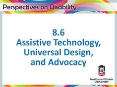 MOOC Perspectives on Disability - NYU - Assistive Technology, Universal Design