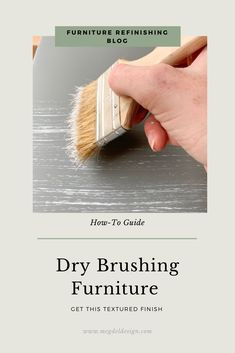 Want to create a fun, textured finish on your furniture piece? This guide is a simple step-by-step tutorial on how to dry brush your furniture! Refurbished Furniture, Paint Furniture, Furniture Makeover, Repainting Furniture, Chair Makeover, Repurposed Furniture, Furniture Ideas, Dry Brush Painting, Painting Tips