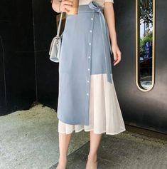 32 Trendy Ideas Dress Skirt Designs Source by Skirts Modest Fashion, Hijab Fashion, Korean Fashion, Fashion Dresses, Couture Fashion, Mode Abaya, Mode Hijab, Skirt Outfits, Dress Skirt