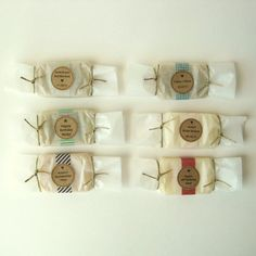 wrapping soap with washi tape