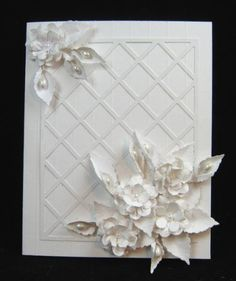 White on White Floral design by casper5209 - Cards and Paper Crafts at Splitcoaststampers