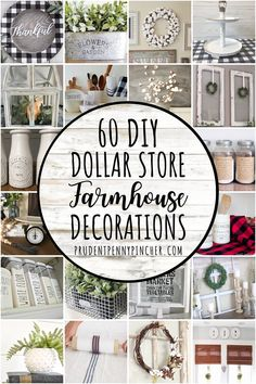 Add a country look to your home on a budget with these dollar store farmhouse decor ideas. From centerpieces to wreaths, there are plenty of DIY farmhouse decor ideas for your kitchen, living room, ba Home Decor Styles, Cheap Home Decor, Diy Home Decor, Dollar Tree Decor, Dollar Tree Crafts, Dollar Tree Finds, Dollar Tree Christmas, Dollar Store Hacks, Dollar Stores