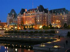 Victoria, Canada: The Empress at Night