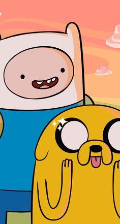 Finn and jake - Adventure Time - Adventure Cute Disney Wallpaper, Cartoon Wallpaper, Iphone Wallpaper, Adventure Time Cartoon, Jake Adventure Time, Adventure Time Characters, Cartoon Memes, Cartoon Art, Cute Cartoon