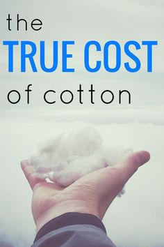 The True Cost of Conventional Cotton for Water Day 2017 | buymeonce.com