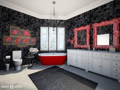 Roomstyler.com - Black and red