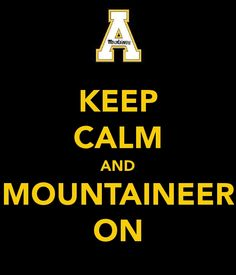 App State..I dont go to school here, but I do love my Mountaineers!