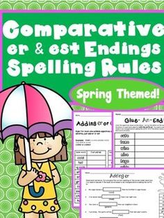 Comparatives & Superlatives Spelling Rules Adding er & est
