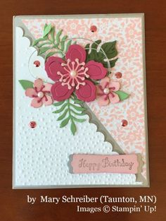 Mary Schreiber, Taunton MN, Stampin' Up!, card swap