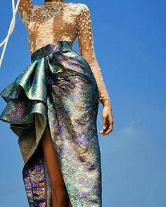 From @rfbstyle - #saiidkobeisy #fw17 #fw18 #giokathleen #gown #nautical #couture #hautecouture #mermaid #altamoda #whispersofthesea #eliesaab #chanel #dior #valentino -