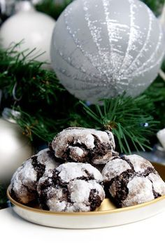 Christmas Sweets, Christmas Cookies, Czech Recipes, Crinkles, Food Hacks, Cheesecake, Deserts, Food And Drink, Chocolate