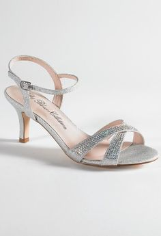 Low Heel Rhinestone Sandal from Camille La Vie and Group USA prom shoes