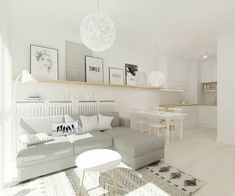 Salones de estilo escandinavo de 4ma projekt