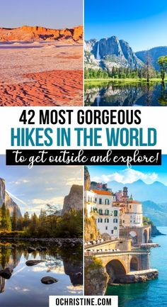 Save this guide to some of the best and most beautiful hikes in the world — totally worth adding to your outdoor bucket list. Here's how to see them, and ways to have a mindful, memorable experience across all fitness levels. Take self-care outdoors! Places To Travel, Travel Destinations, Places To Go, Travel Tips, Travel Advice, Travel Guides, Places Around The World, Travel Around The World, Around The Worlds
