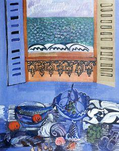Raoul Dufy Nature morte au poisson et aux fruits, 1920 Art And Illustration, Illustrations, Cara Fresca, Project Abstract, Art Français, Raoul Dufy, France Art, Pop Art, Post Impressionism