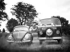 Kombi and Beetle Wedding picture VW