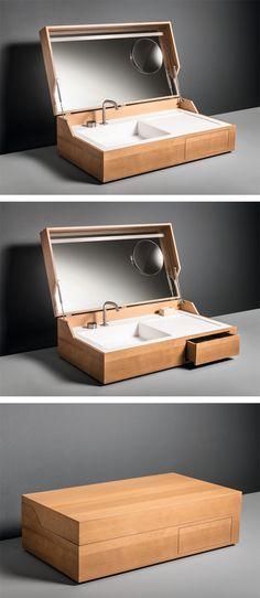 Vanity unit with drawers, design by Giulio Gianturco for MAKRO #washbasin #bathroom