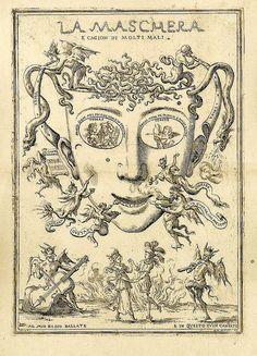 Devil's Mask. Italian 1688. etching 429x 304 mm. BM by tony harrison, via Flickr