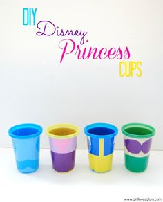 DIY Disney Princess Cups Tutorial on www.girllovesglam.com #vinyl #project