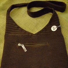 "Vintage Sak Purse Brown Crochet ""The Sak"" Purse! Great for Fall The Sak Bags Shoulder Bags"