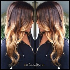 ombre but more  caramel than blonde