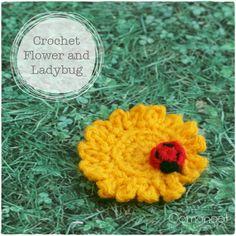 Spring Crafts: Crochet Flower & Ladybug