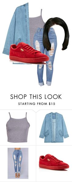 """Red Pumas"" by beautyqueen-927 ❤ liked on Polyvore featuring Steve J & Yoni P and Puma"