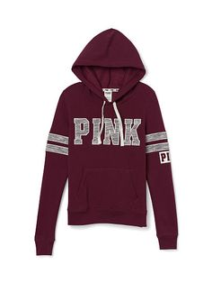 Perfect Pullover - PINK - Victoria's Secret $49.95 medium or large. if lex is with you have her try it on. not sure how VS hoodies size.