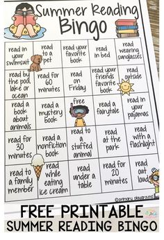 Reading Bingo Free Printable Summer Reading BingoFree Free may refer to: End Of Year Activities, Summer Activities For Kids, Reading Activities, Summer Kids, Kids Summer Schedule, Reading Projects, Free Summer, Reading Bingo, Kids Reading