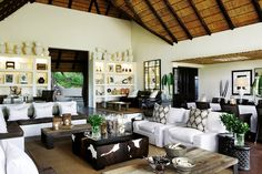 Londolozi game reserve in south africa .. love the feel, the colors, the textures of this room!