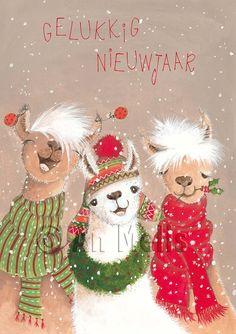 Nieuwjaarsbrief An Melis Christmas Animals, Christmas Books, Christmas Design, Kids Christmas, Vintage Christmas, Christmas Crafts, Christmas Decorations, Christmas Ornaments, Beautiful Drawings