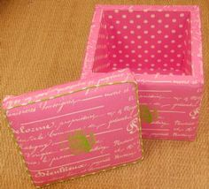 Damask Storage Cubes Set of 2 in Black and White by Room