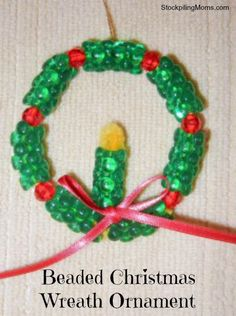 This Beaded Christmas Wreath Ornament is one of my favorite crafts for the Holiday's. I made it originally with my Mom in Girl Scouts and tr...