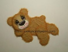 Sleepy Bear Tear Bear Paper Piecing Embellishment by